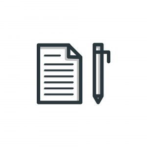 vector of it support contract page and pen