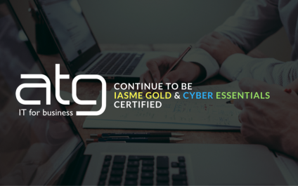 ATG-IT continue to be 'IASME' and 'Cyber Essentials Plus' certified