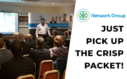 Just pick up the crisp packet! – Mark's Network Group presentation.