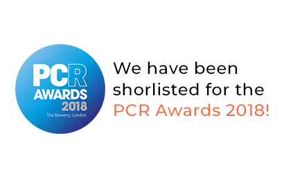 We have been shortlisted for the PCR Awards 2018!